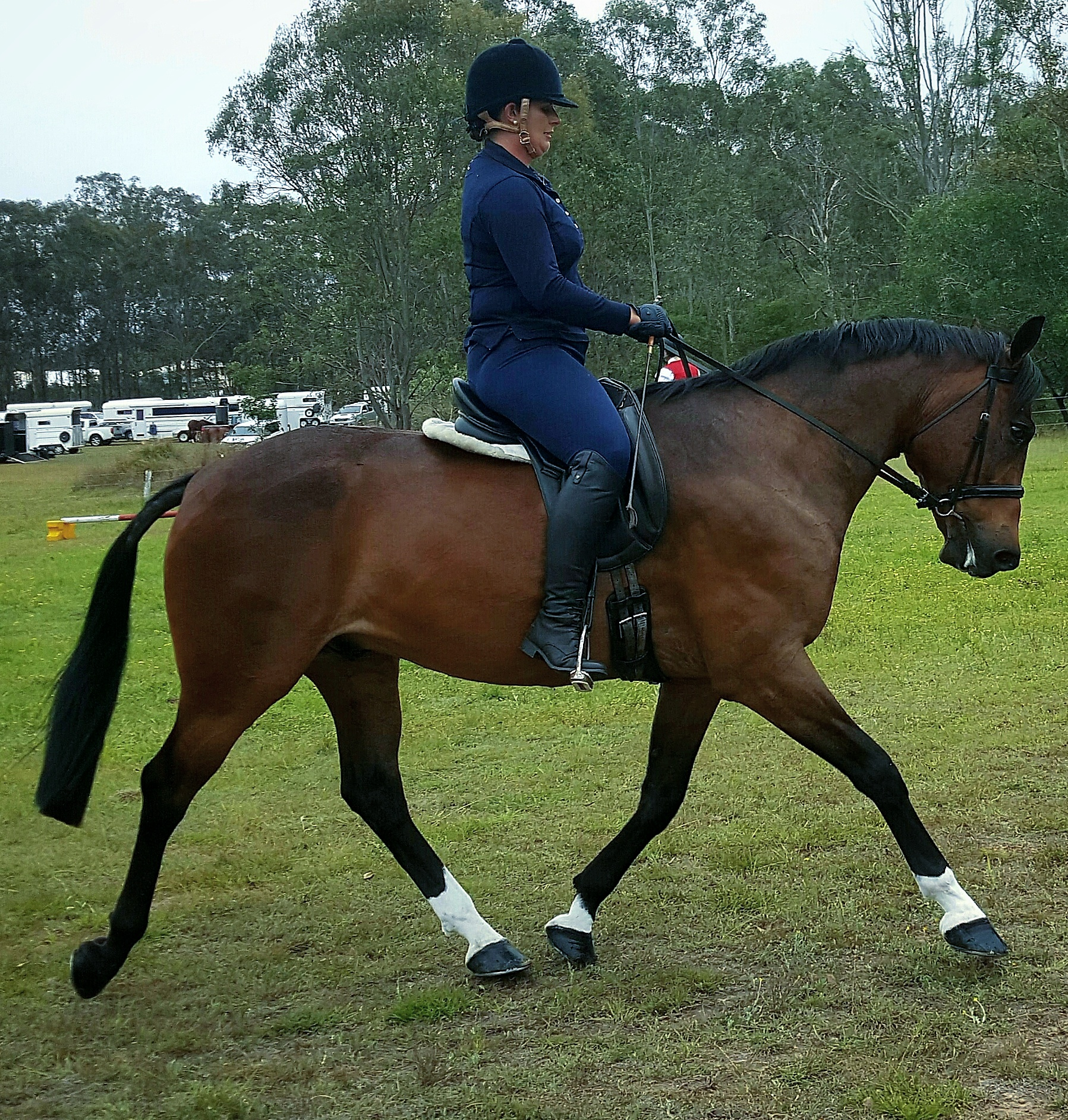 Juroki Johnnie with Emily Wonka in the show hunter hack at Ipswich Hack Day