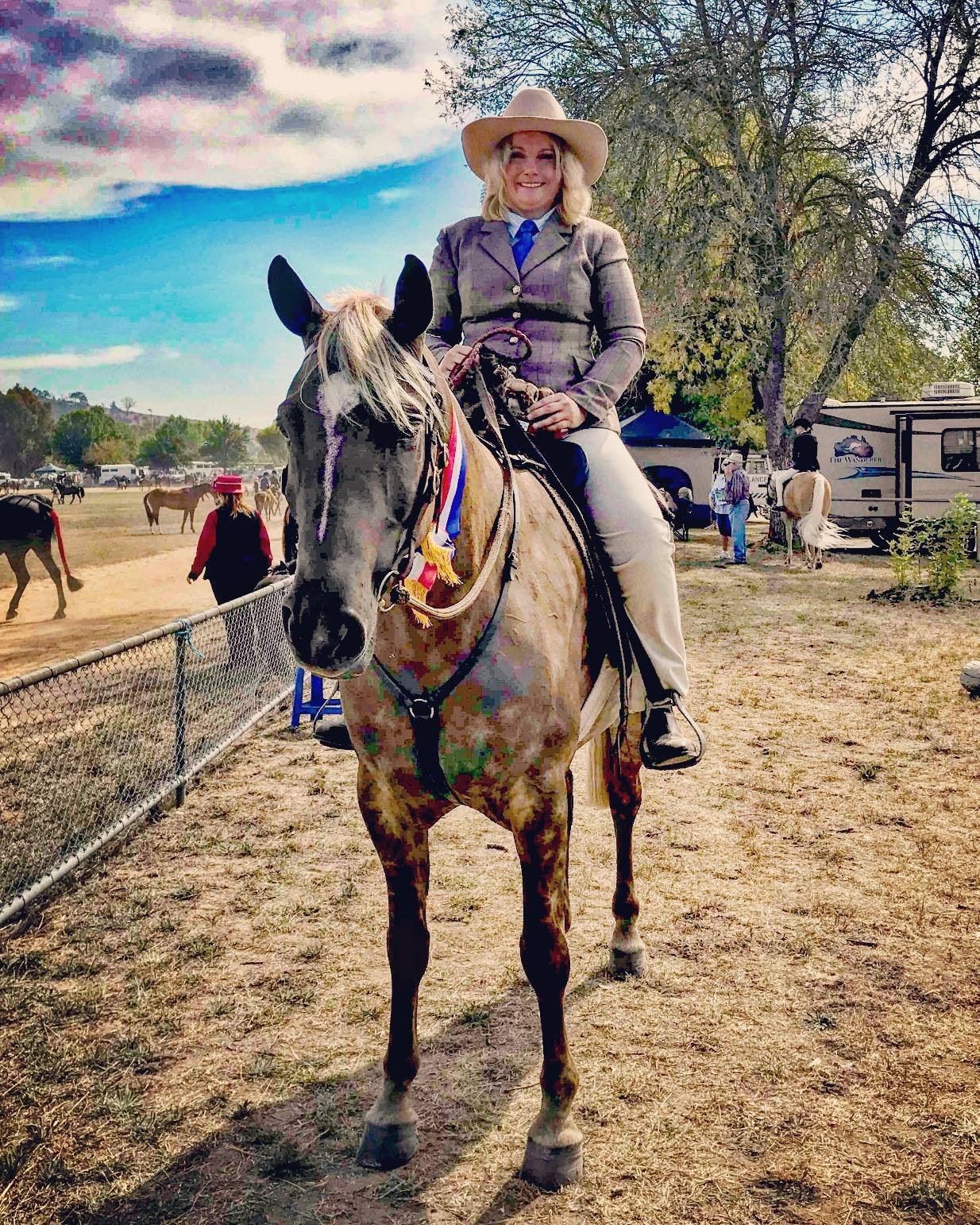 Wendara Silver Lining, Champion Waler at Gunning Show 2018, ridden by Penny Bieber